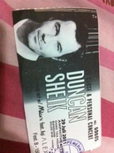 Tiket Duncan Sheik